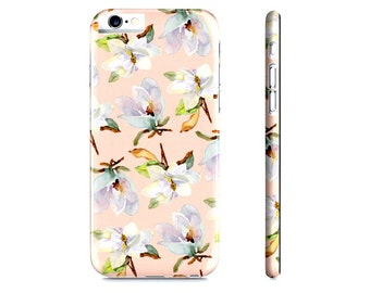 iPhone 6 Case - iPhone 5 Case - Magnolia iPhone Case - Watercolor Magnolia iPhone Case - Peach Floral iPhone 6 Case - Samsung Galaxy Case