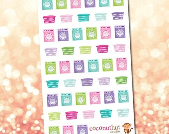 Laundry Machine & Laundry Basket Planner Stickers