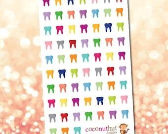 Dentist / Tooth / Teeth Planner Stickers