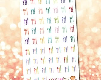 Forks Knives & Spoons / Meal / Food Planners Stickers
