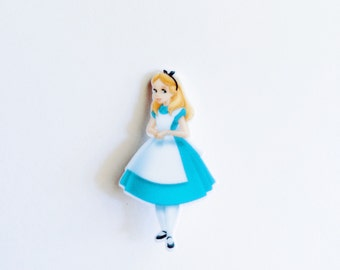 S A L E Alice Brooch - Alice in Wonderland Inspired - Mad T Party // Pin