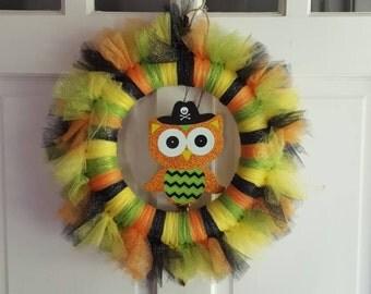 Halloween Hoot Wreath