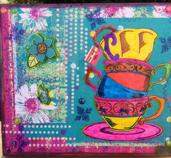 Tea Time Cups Box Decor