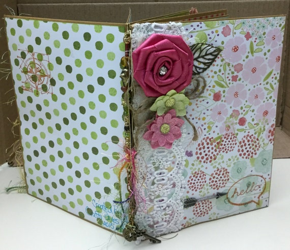 Pretty Junk Journal with Two Pull Out Inserts