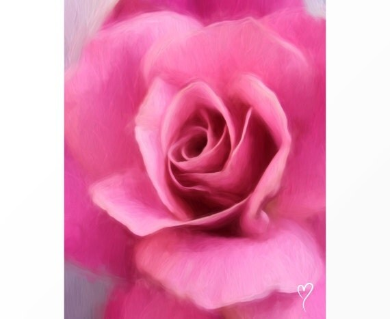 """Rose Art, Flower Art of a Beautiful Pink Rose, Home Decor, Gift for Her, Pink Flower Print """"Scent of Desire"""""""