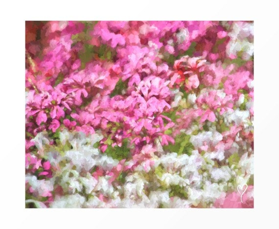 """Flower Print of Beautiful Pink and White Flowers, Flower Art, Home Decor, Wall Decor, Pink Flower Print, Gift for Mom """"Sprinkles of Love"""""""