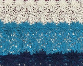 """Guipure Lace Fabric By The Yard 48""""/50"""" - Blue, Green, Ivory, White, Silver, Teal, Red, Pink, Purple, Turquoise, Navy, Black"""