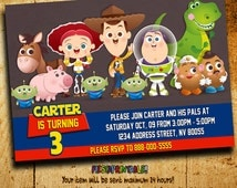 Invitations - Toy Story Invitation - Toy Story Birthday - Toy Story Invitations - Boys Invitation - Toy Story - F22