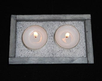 Tea light candle holder - Double
