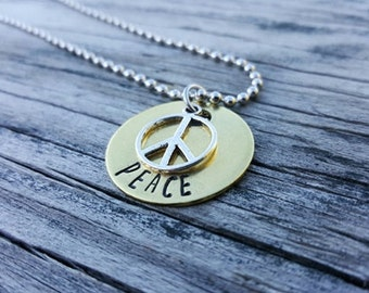Peace Necklace - Simple Necklace