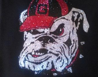 Georgia bulldogs bling tee