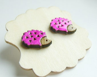 tiny hedgehogs for your ears // sweet stud earrings