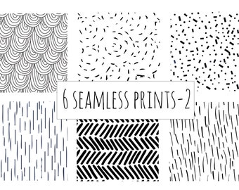 6 seamless all over print patterns  in vector format