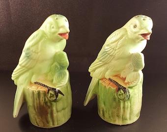 Parrot salt & pepper shakers
