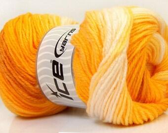 Gold Yarn, Ice Magic Light, 22019 Gold, Cream, Camel, Golden, Yellow Yarn, Fall colors