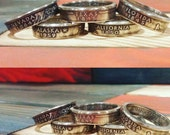 50 States Silver State Quarter Coin Ring