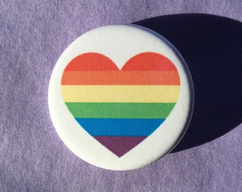 Gay pride rainbow flag button // gay pride pin