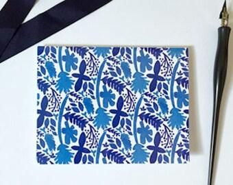 Adalie Blue Watercolor Greeting Card