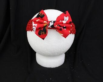 Red puppy dog headband
