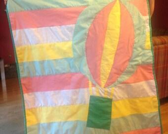 Hot Air Balloon Quilt (Custom Made Applique Quilt)
