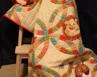 Custom made quilted blanket