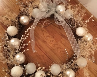 White wedding wreath