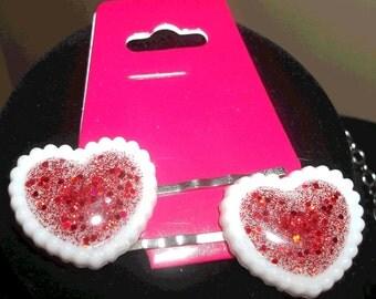 Love Heart Bobby Pins