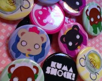 Yuri Kuma Badges