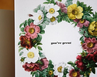 Greeting card : You're Great.