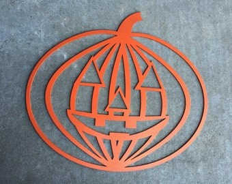Modern Laser Cut Wood Sign Pumpkin Wall Decoration