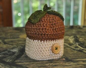 Acorn Baby Beanie Hat 6-12 months