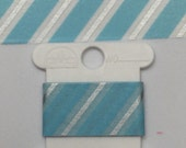 Blue/Silver Diagonal Stripes Christmas/Winter Washi Tape Samples