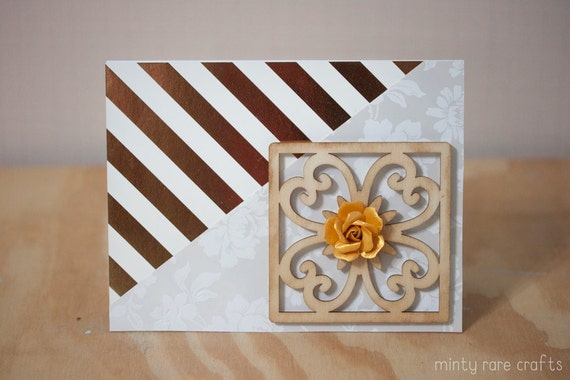 Classy Modern Love: Gold & White Card