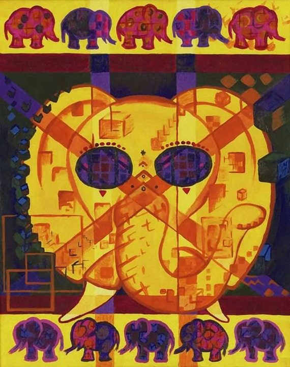 Psychedelic Elephant: 13x19 Print - Signed & Numbered