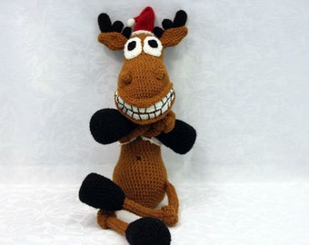 Knitted toy / Knitted deer / Knitted toy reindeer