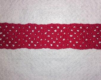 Red Granny Square Bookmark