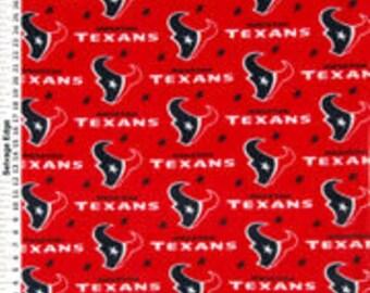 NFL Houston Texans Hand Tied Fleece Blanket