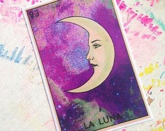 La Luna Galaxy Tarot Card Sticker