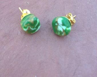 Minimalist Clay Stud Earrings