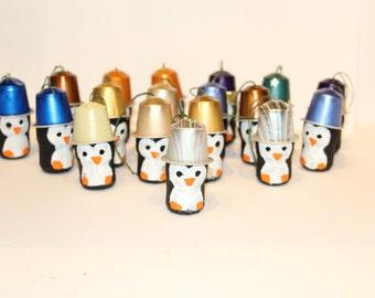 D coration d 39 arbre de no l de pingouin avec capsules par gioielero - Decoration avec capsule nespresso ...