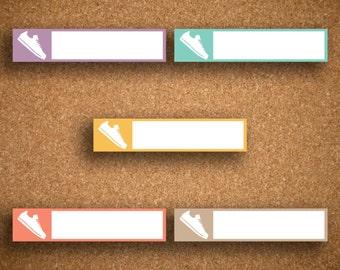35 Run/Step Box Planner Stickers IWP-LRS1