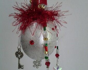 White Christmas Egg Ornament
