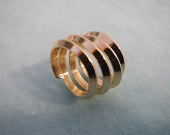 Unique Spiral Ring, Vintage