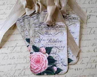 Camellia Tags-Set of 6