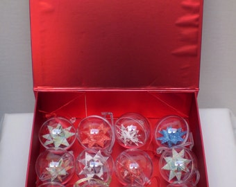 Boxed Set of 16 Hanging Paper Star Decorations