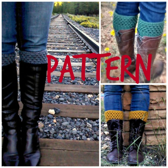 Morgan Boot Cuff Pattern -- crochet pattern