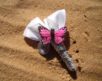 Boutonniere with spiral finish