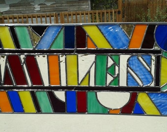 SOLD Stained Glass Name Panel - Personalize or Custom