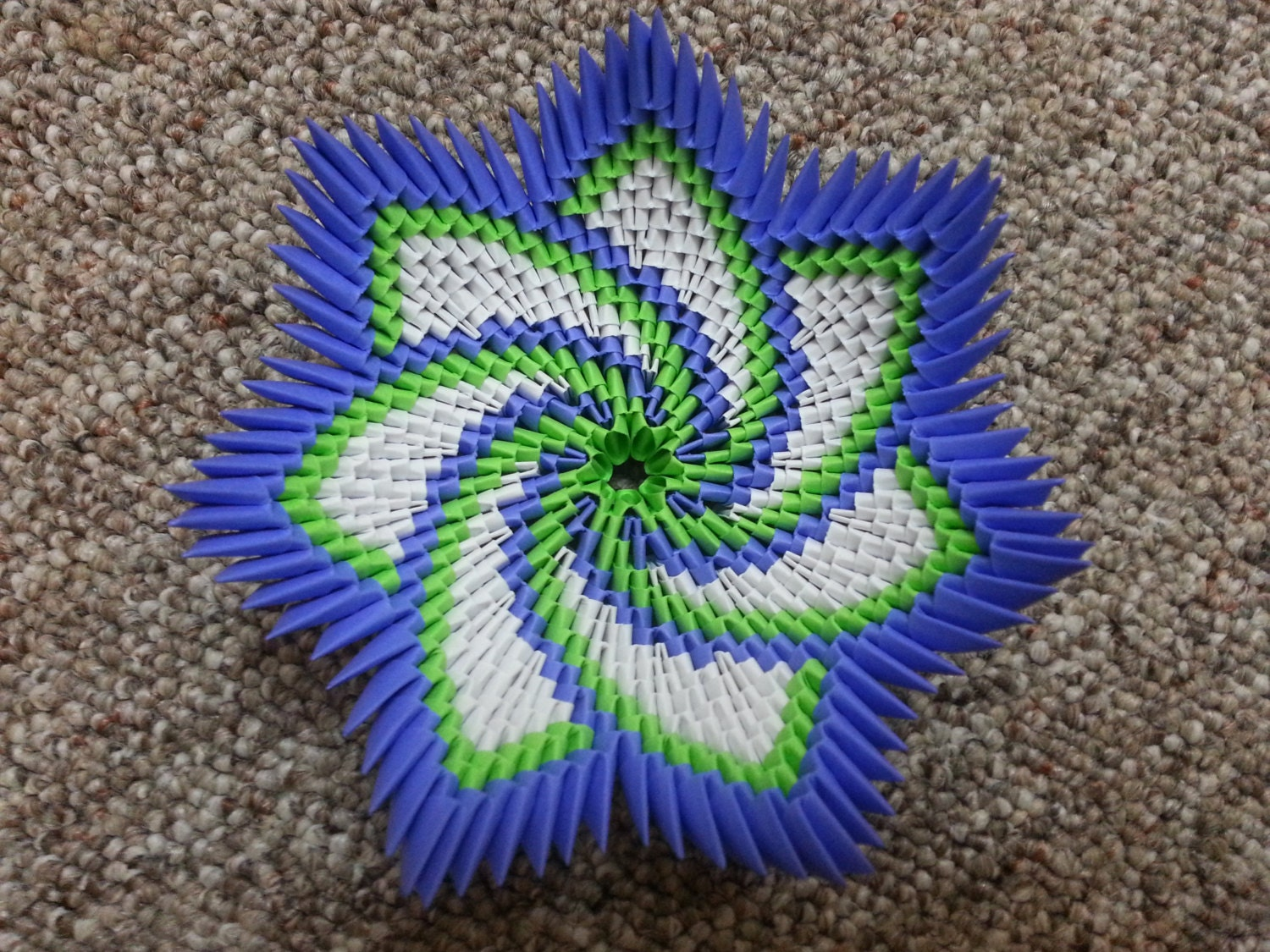 3D Origami Spiral Flower Bowl by YarnRoad on Etsy - photo#13