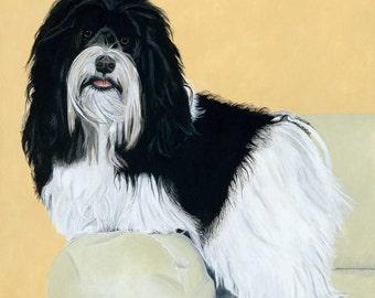 "Giclée Print On Fine Art Paper Of Original Painting ""Ricky Ricardo"" Painted By Award-Winning Artist Ingrid Lockowandt"